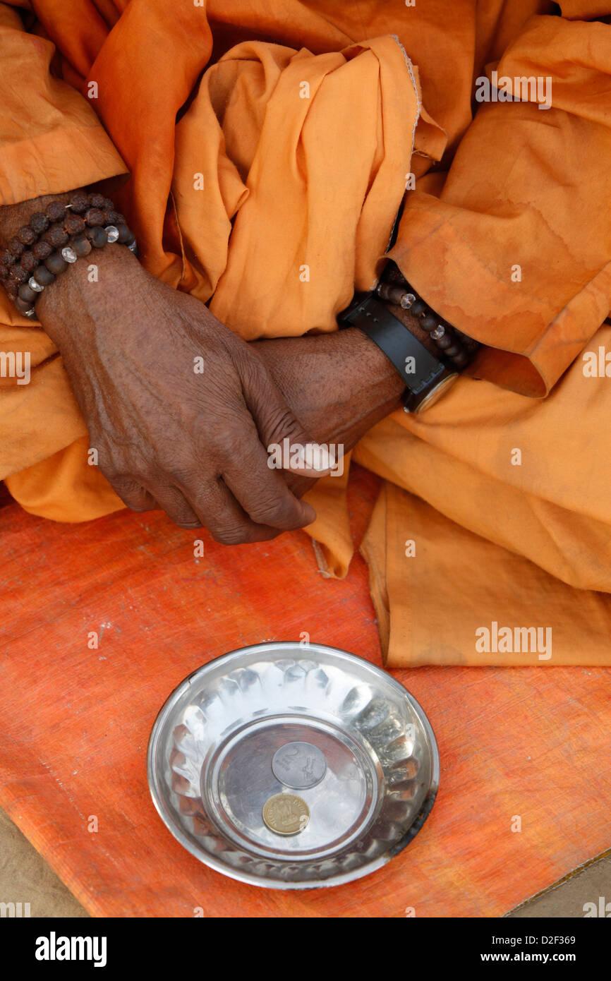 Beggar Goverdan. India. - Stock Image