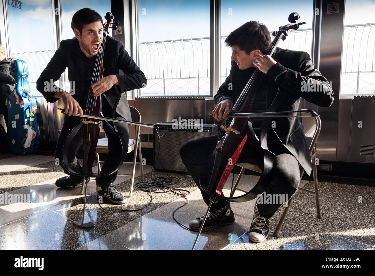 2CELLOS Stjepan Hauser Luka Sulic at the Empire State Building's