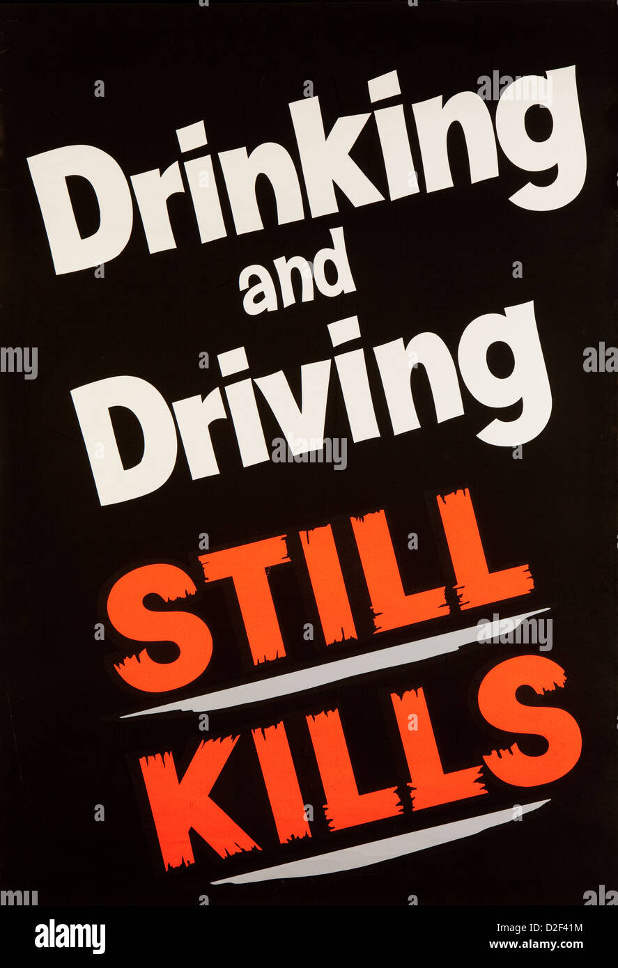 Road Safety, 1960s, ROSPA anti drink driving, drinking and driving still kills poster - Stock Image