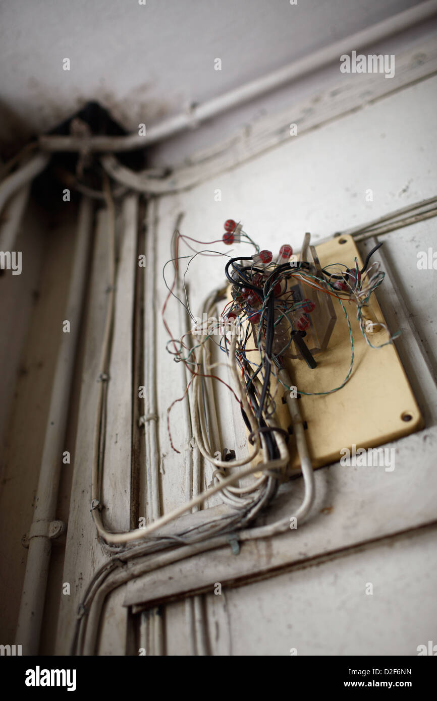 dangerous electrical wiring stock photos dangerous electrical wiring stock images alamy. Black Bedroom Furniture Sets. Home Design Ideas