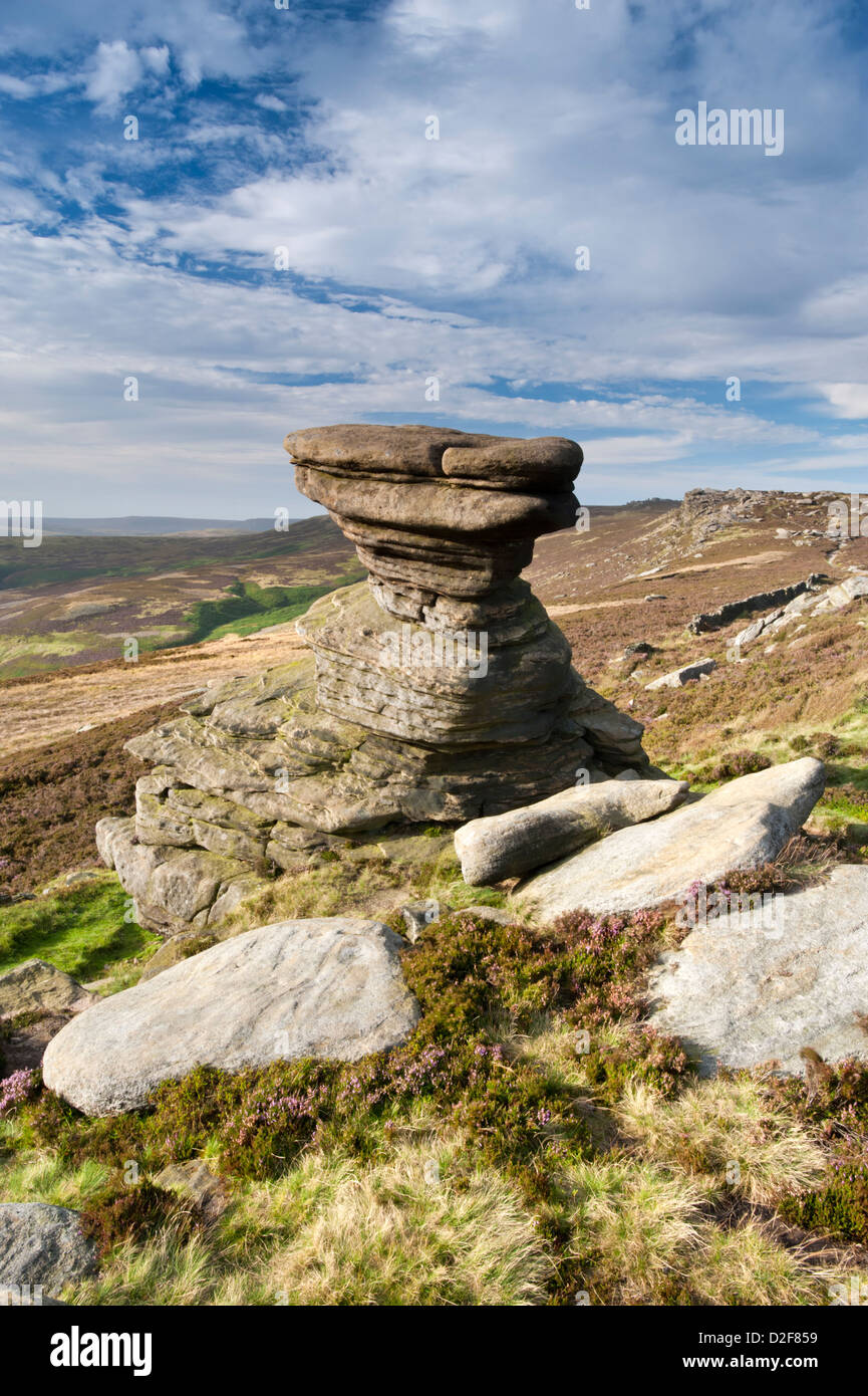 The Salt Cellar, Rock, Formation on Derwent Edge, Peak District National Park, Derbyshire, England, UK - Stock Image