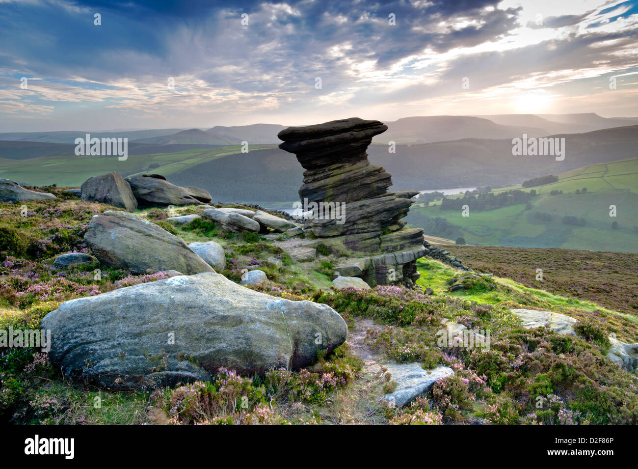 The Salt Cellar, Derwent Edge, Peak District National Park, Derbyshire, England, UK - Stock Image