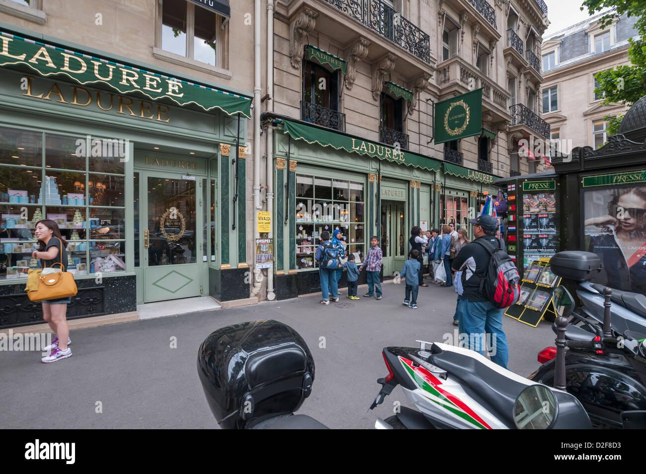 The Patisserie E. Laduree ,Paris,France - Stock Image