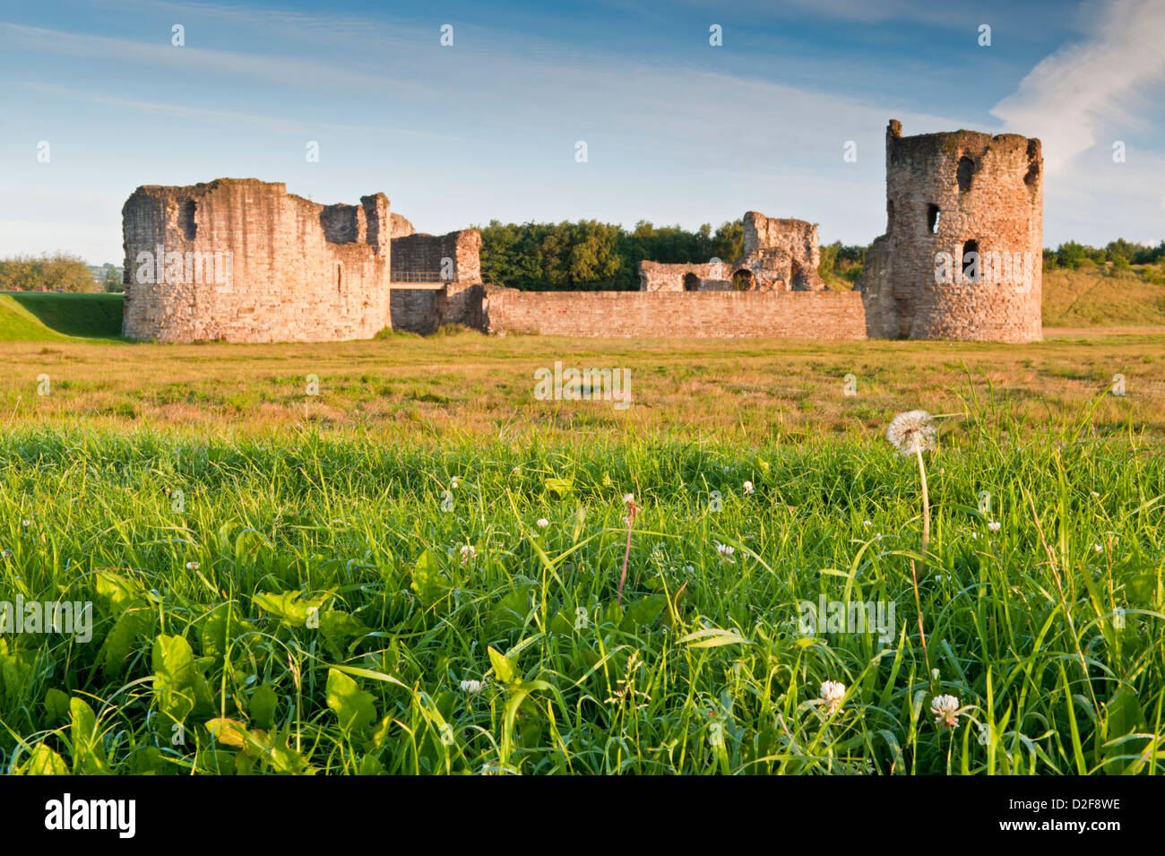 Flint Castle, Flint, Flintshire, North Wales, UK - Stock Image