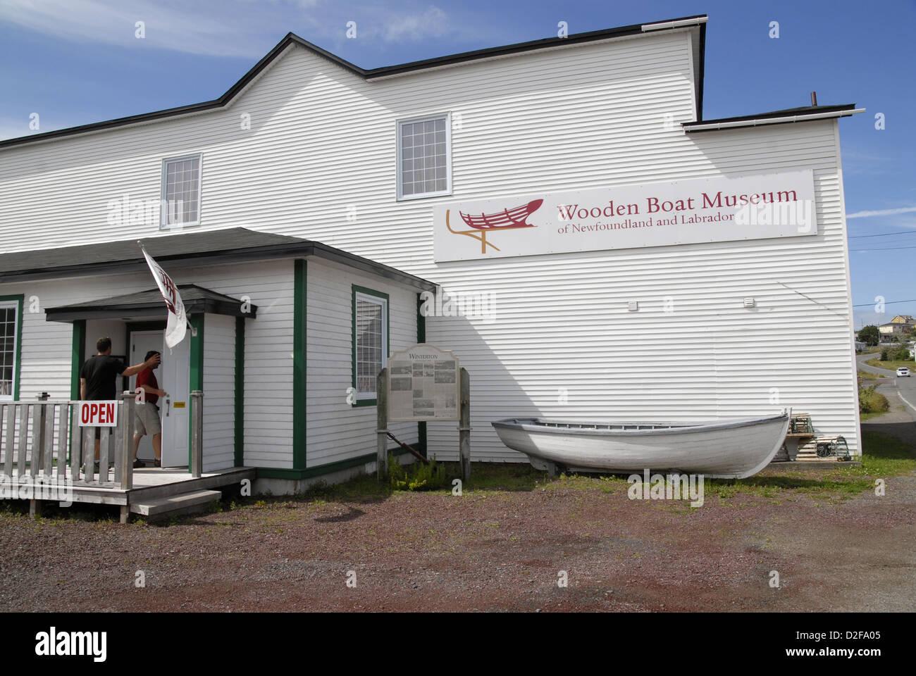 The Wooden Boat Museum Winterton Newfoundland Stock Photo