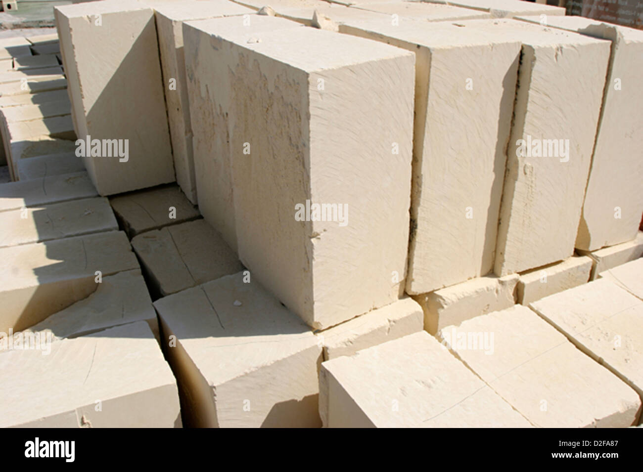 These Large Limestone Blocks Are Used By The Maltese For House Building They Stacked At Site Ready Use