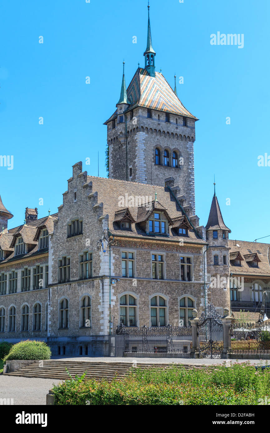 Swiss country museum in Zurich, Switzerland - Stock Image