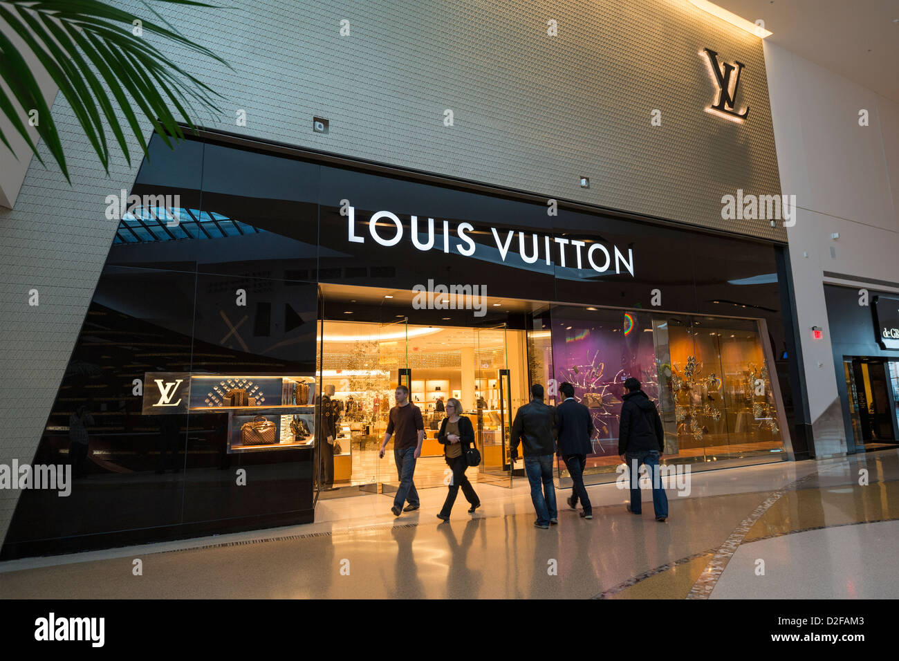 The Crystals shopping, dining, and entertainment complex at CityCenter in Las Vegas. - Stock Image