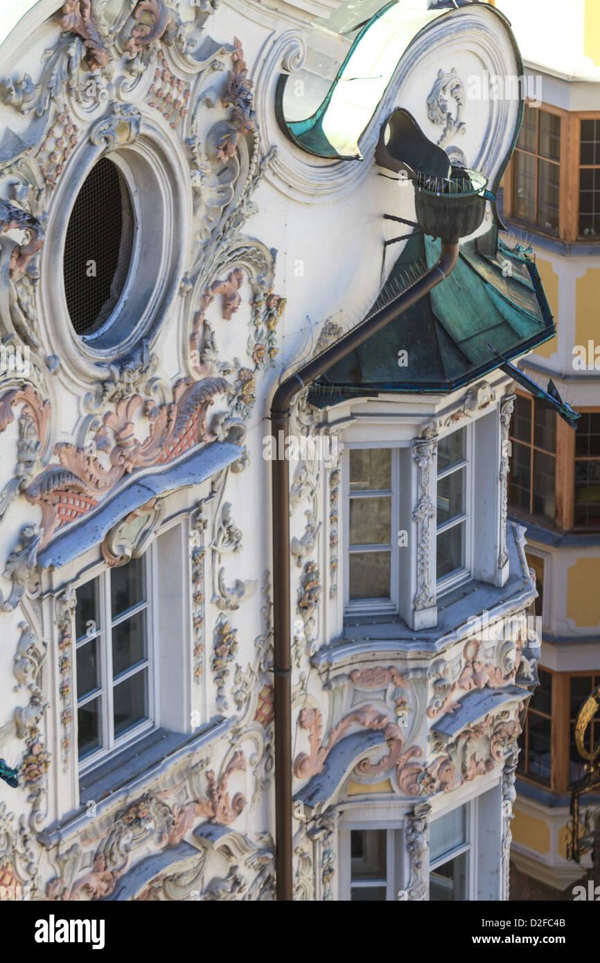 Tyrolean Baroque Style House Facade In Innsbruck Tyrol Austria