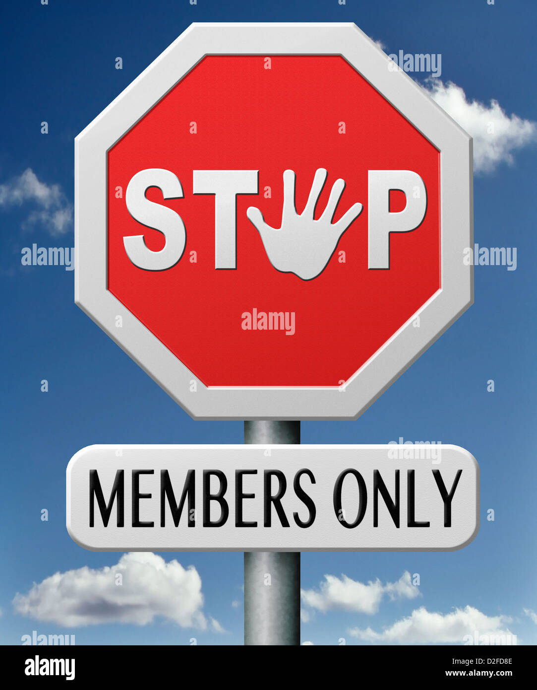 members only restricted VIP area access denied closed community - Stock Image