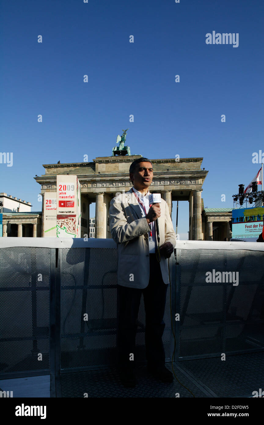 Berlin, Germany, correspondent reports occasion 20 Year anniversary - Stock Image