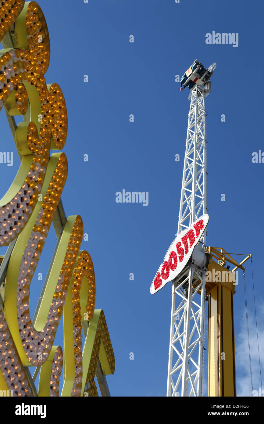 Booster on Brighton pier, East Sussex, UK - Stock Image