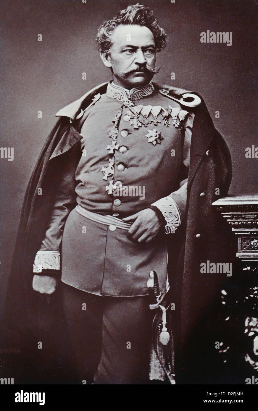 Johann Baptist Ritter von Stephan, 1808-1875, General of the Royal Bavarian Army, Franco-Prussian War 1870-1871 - Stock Image