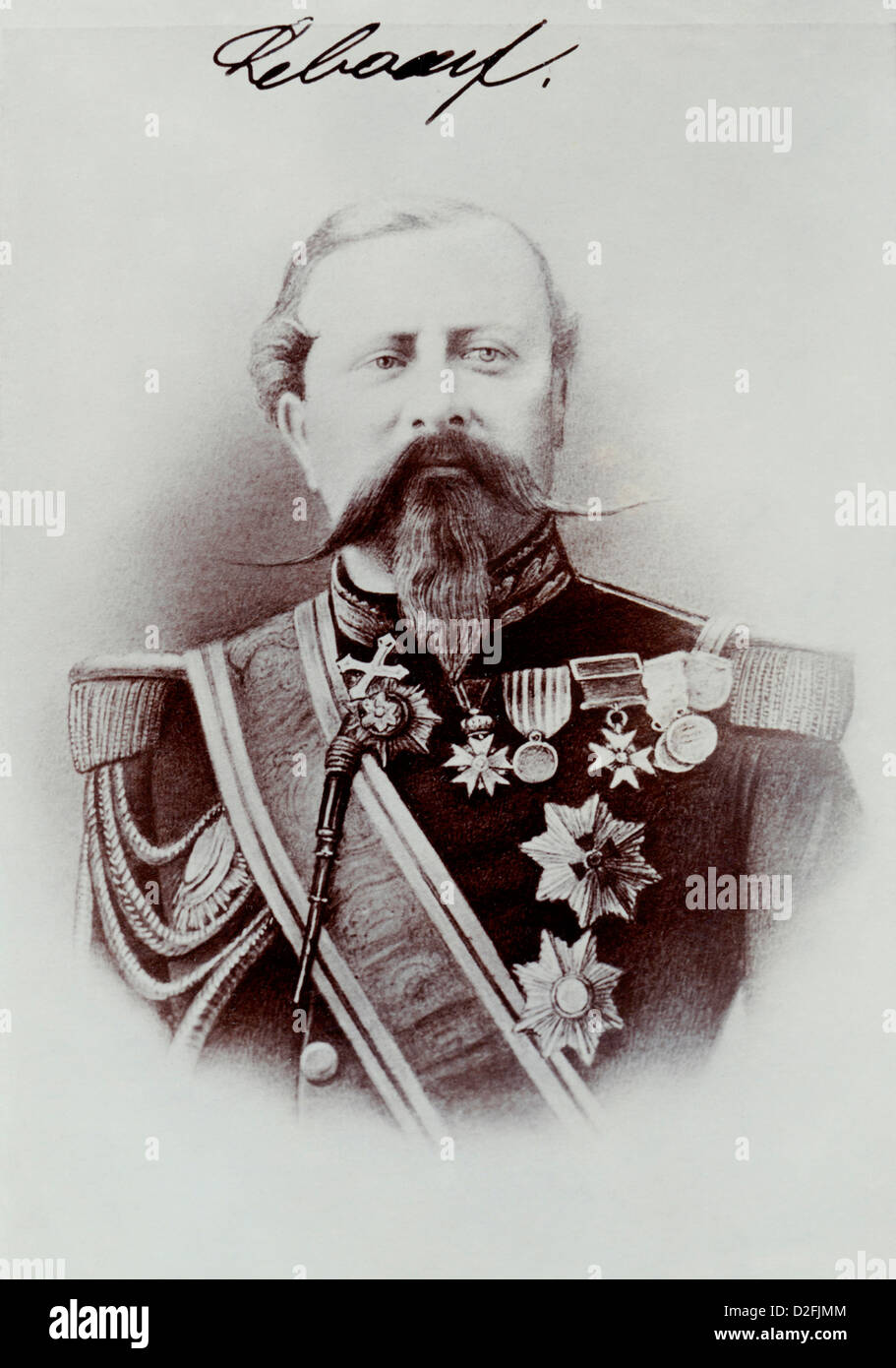 Edmond Leboeuf, 1809-1888, marshal of France and Minister of War, Franco-Prussian War or Franco-German War 1870 - Stock Image