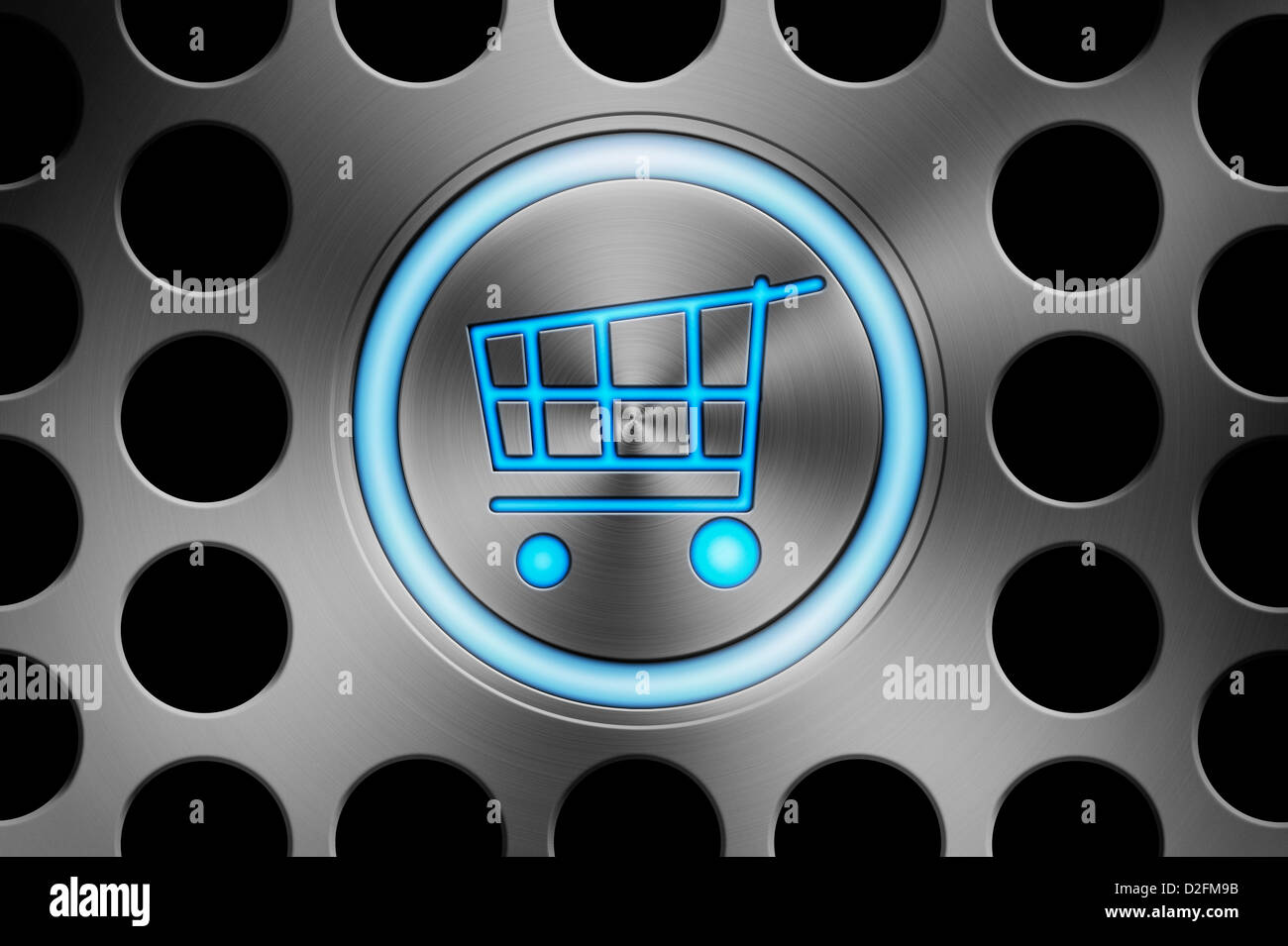 Online shopping technology concept - Stock Image