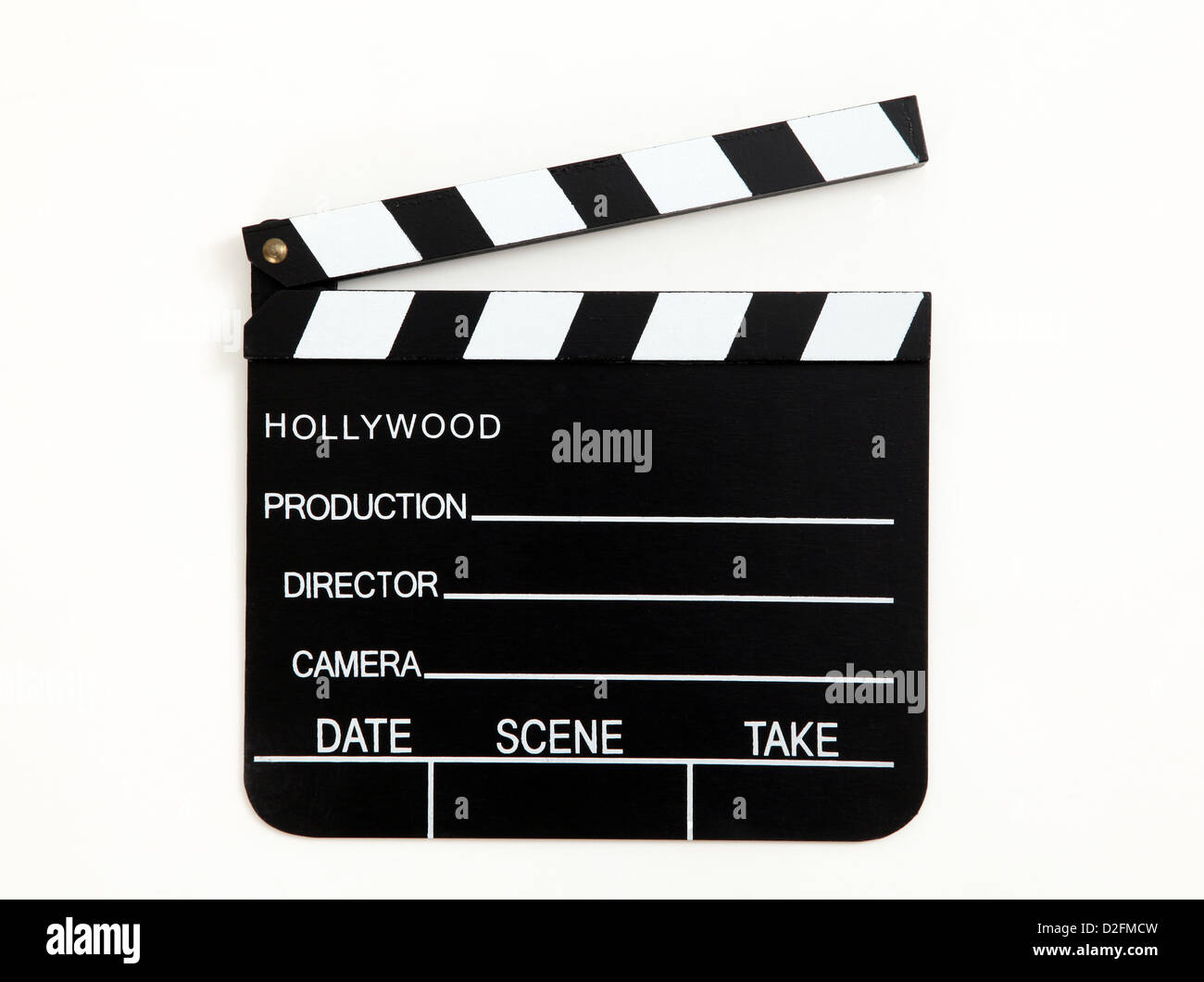 Hollywood Clapperboard - Stock Image