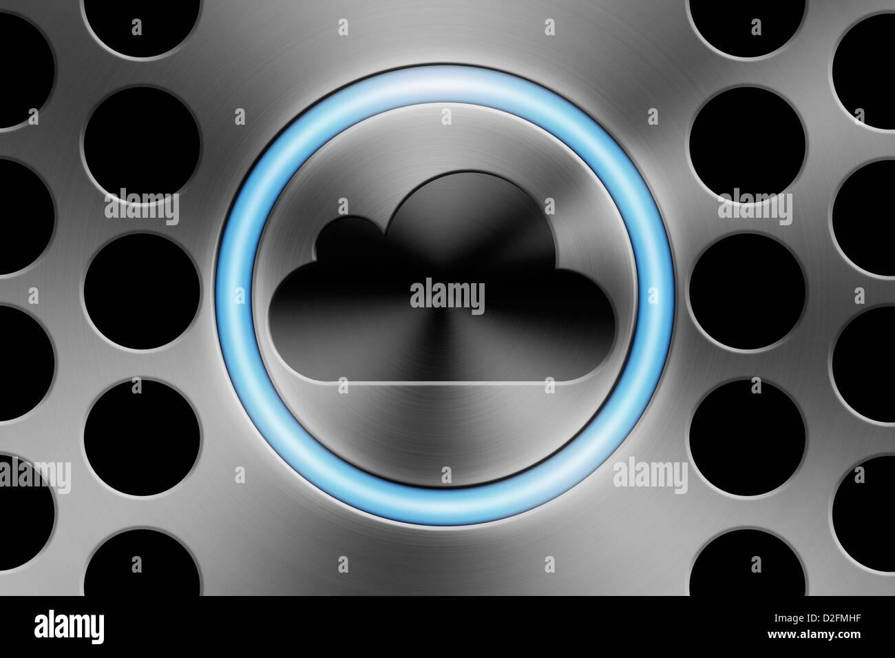 Cloud computing concept - Stock Image