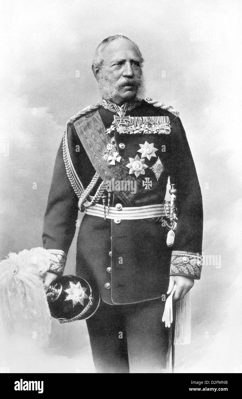 Historical photograph, portrait of William I or Wilhelm Friedrich Ludwig of Prussia, 1797 - 1888, Hohenzollern, - Stock Image