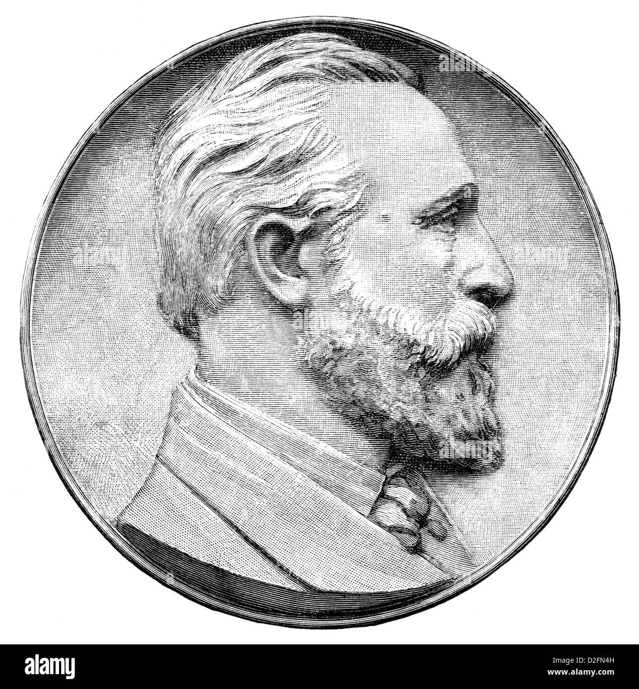 Ernst Heinrich Wilhelm von Stephan, 1831-1897, postmaster general of the German Reich, organiser of the German postal Stock Photo
