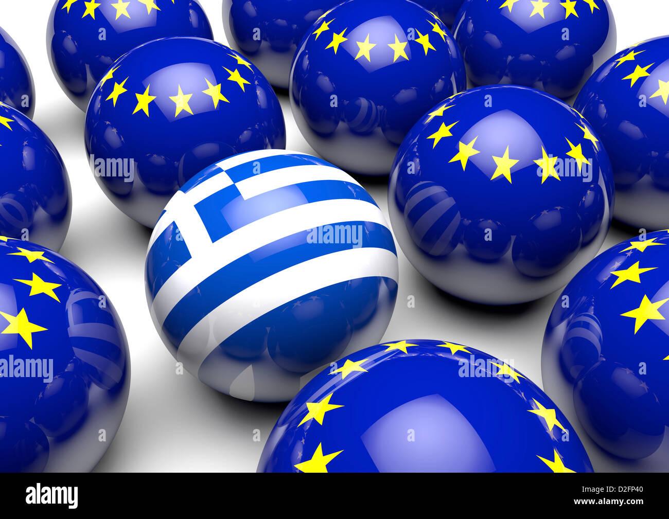 Greece - Greek debt concept - Stock Image
