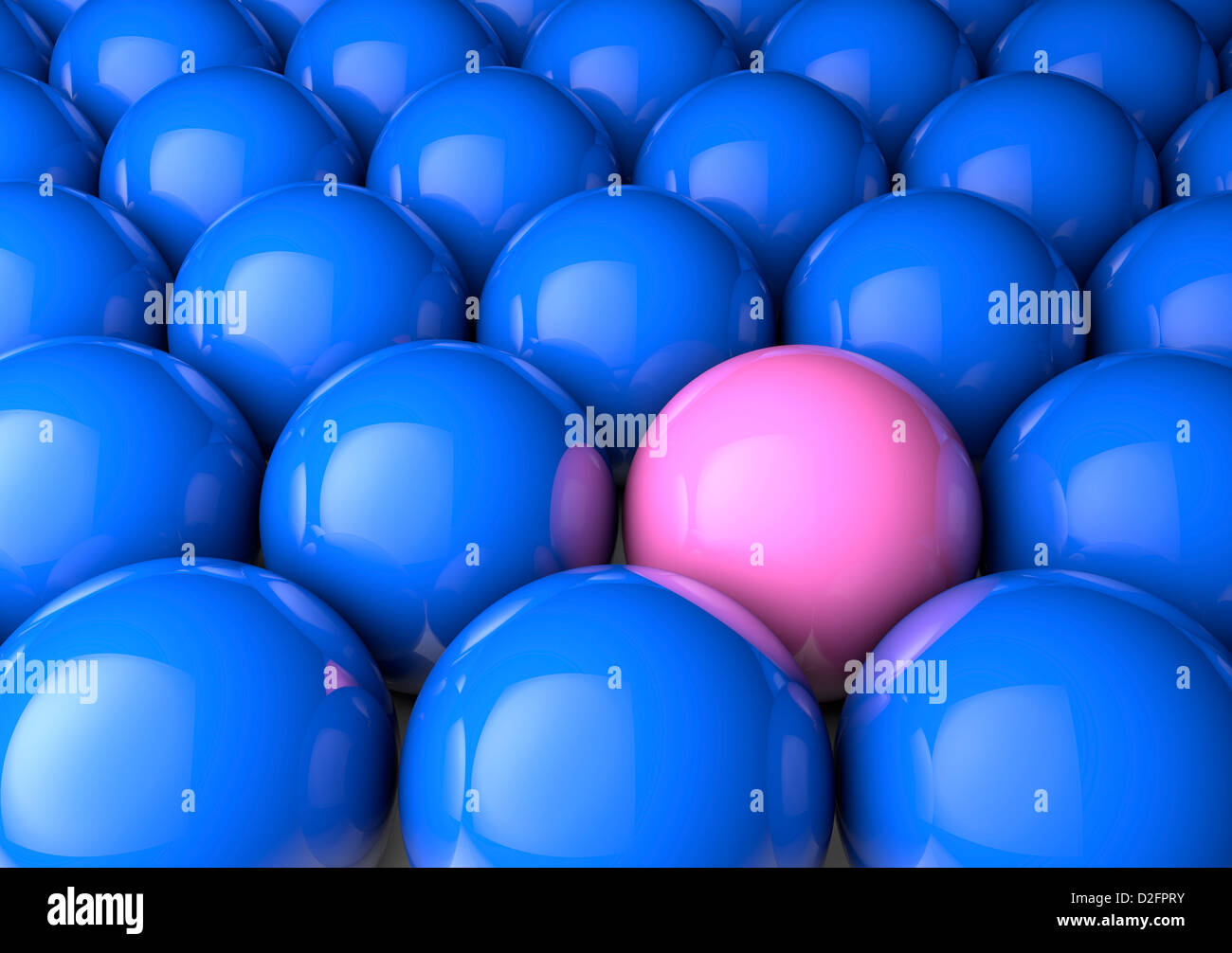 Odd one out / difference / male female inequality / equality concept - Stock Image