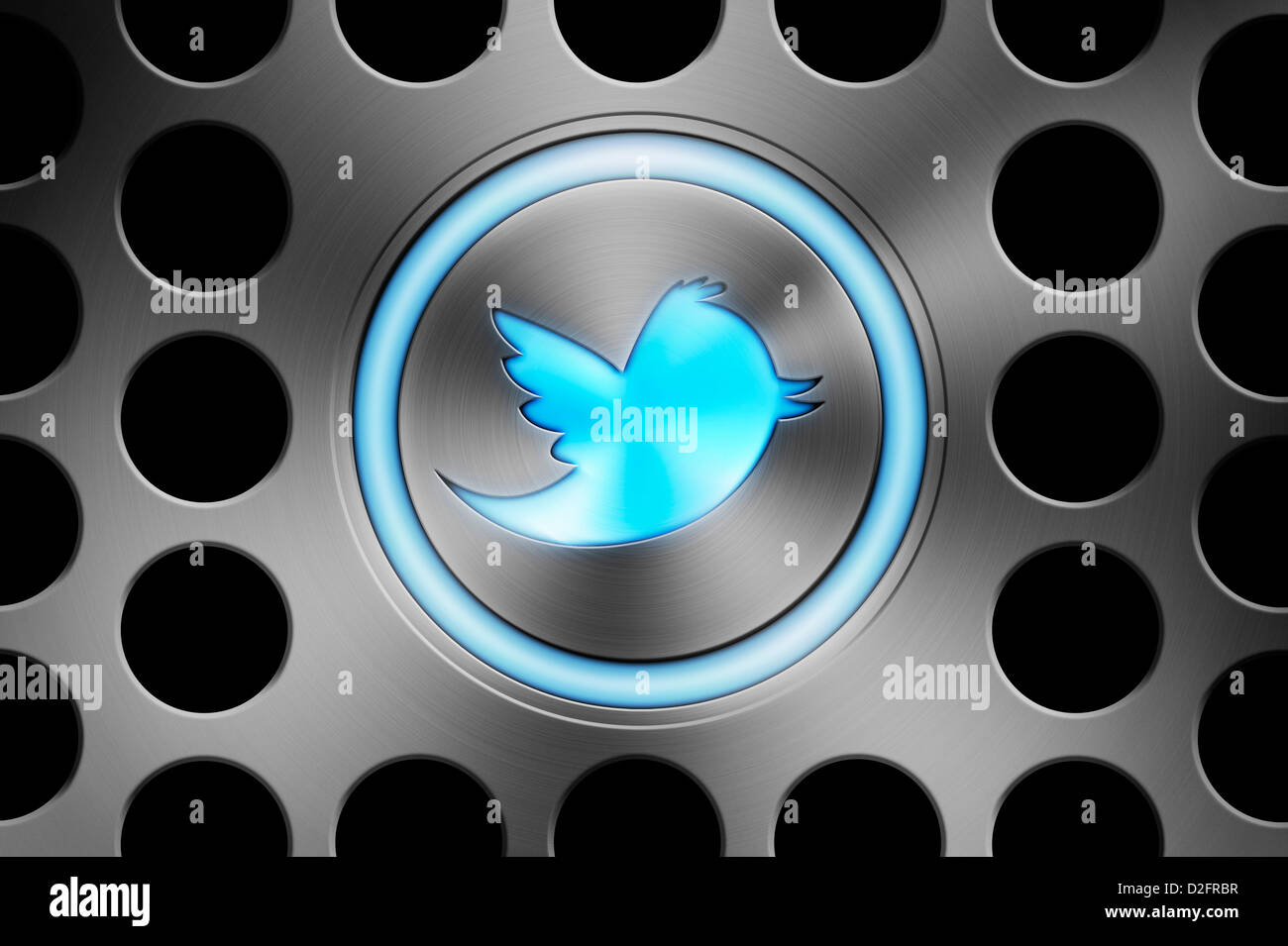 TWITTER icon button - Stock Image