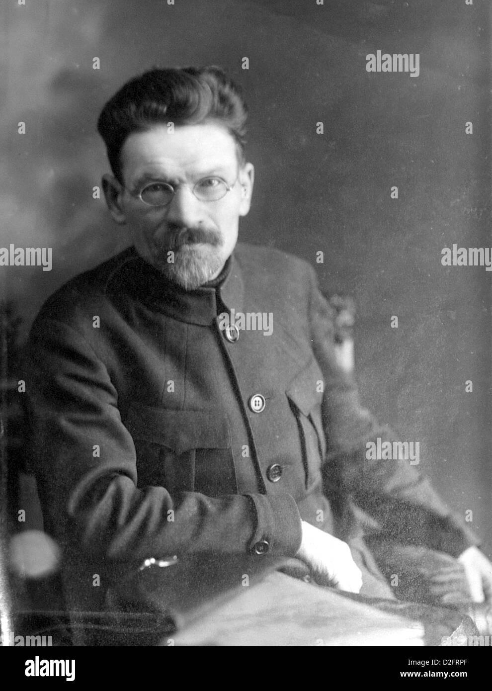 MIKHAIL KALININ (1875-1946) Russian Bolshevik revolutionary about 1920 - Stock Image