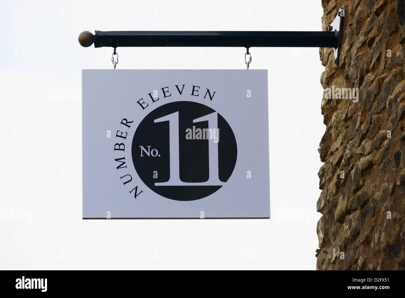 Number Eleven. Collin Croft, Kendal, Cumbria, England, United Kingdom, Europe. - Stock Image