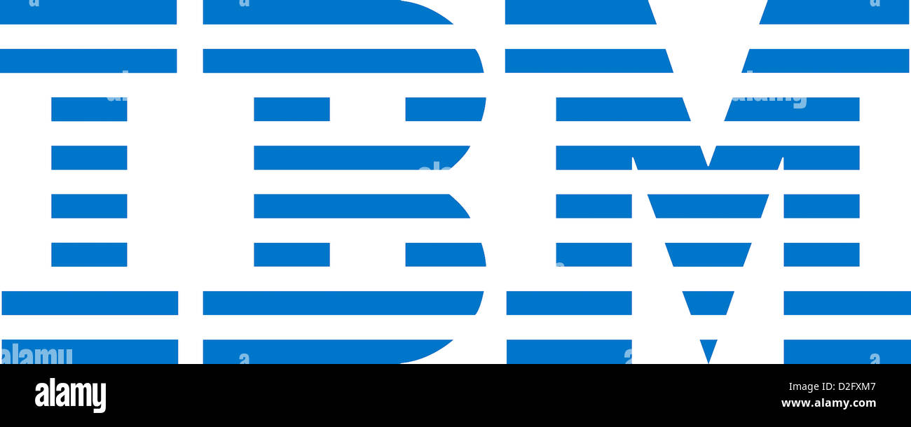 Logo of the American IT company International Business Machines Corporation IBM based in Armonk. - Stock Image