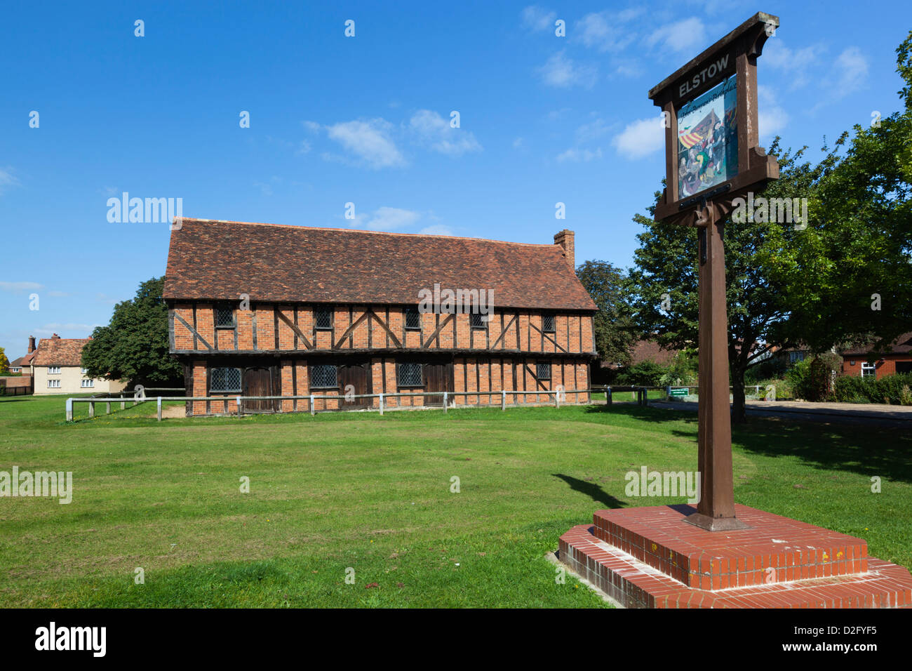 Elstow Moot Hall, 15th century Market house on Elstow Green - Stock Image