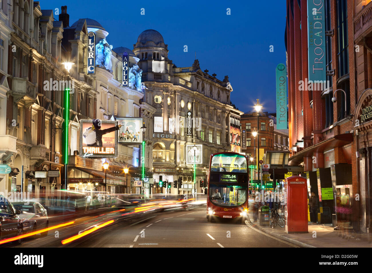 Shaftesbury Avenue theatres - Stock Image