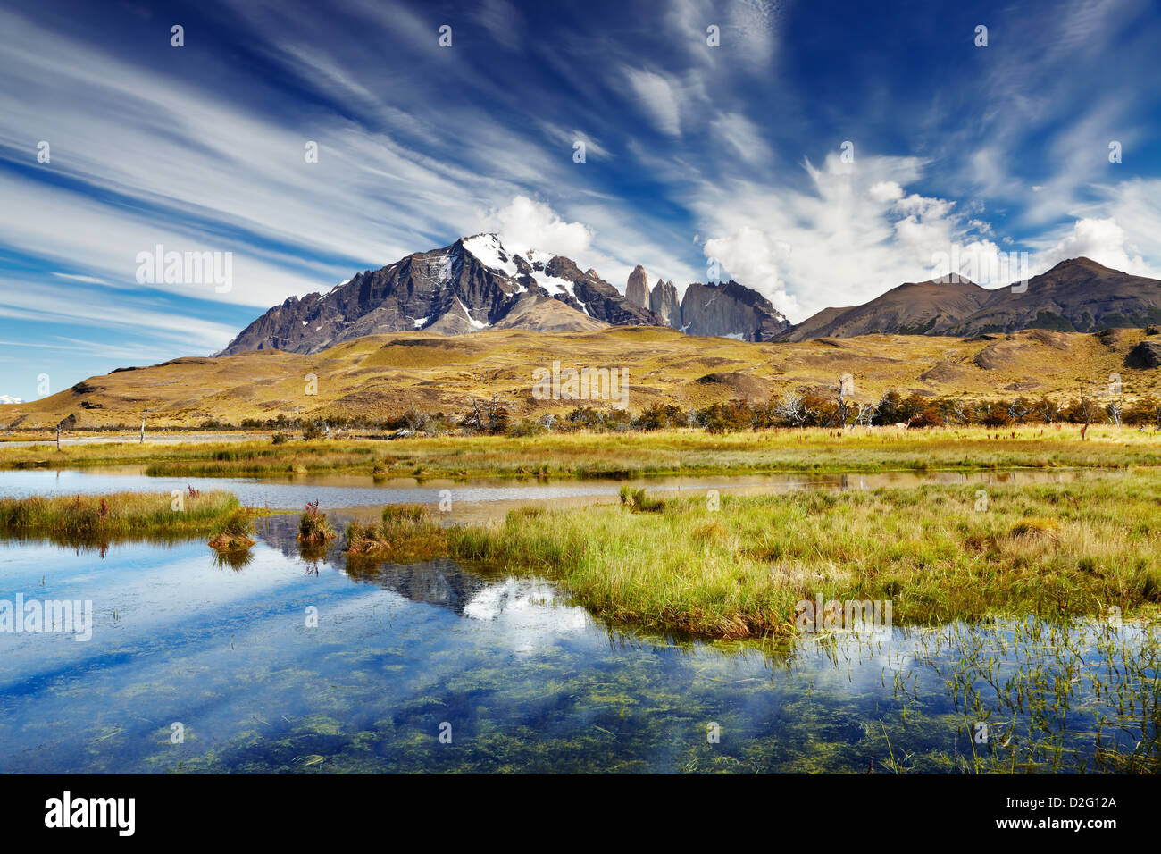 Torres del Paine National Park, Patagonia, Chile - Stock Image