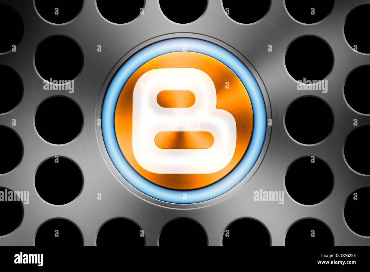 Blogging / blogger concept - Stock Image