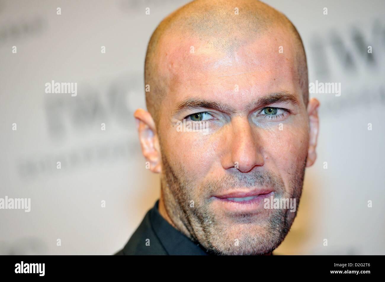 Geneva, Switzerland. 22nd January 2013. Former French Soccer Player Zinedine Zidane attends at IWC Race Night Dinner - Stock Image