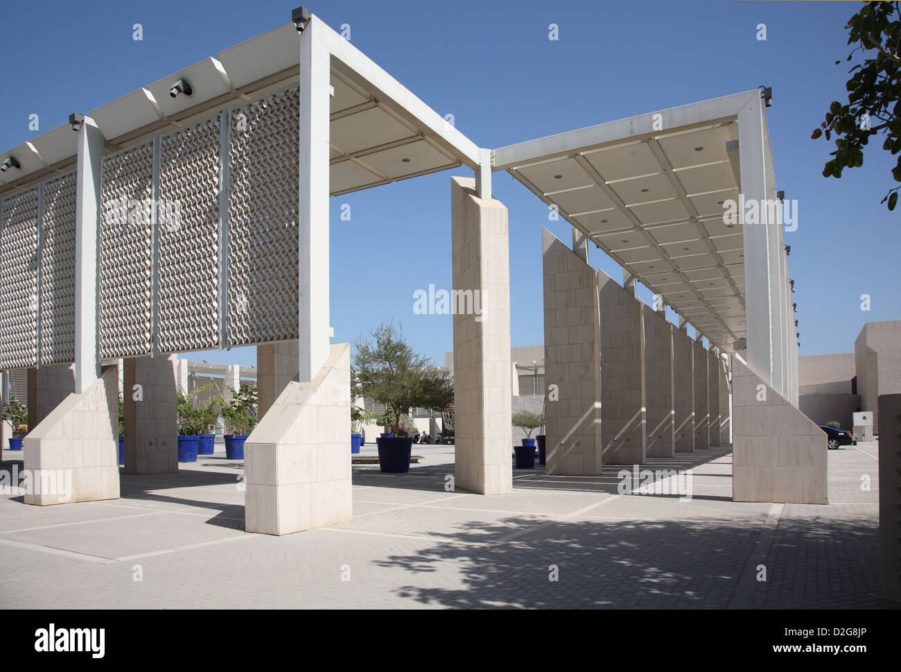 The Bahrain National Museum - entrance courtyard - Stock Image