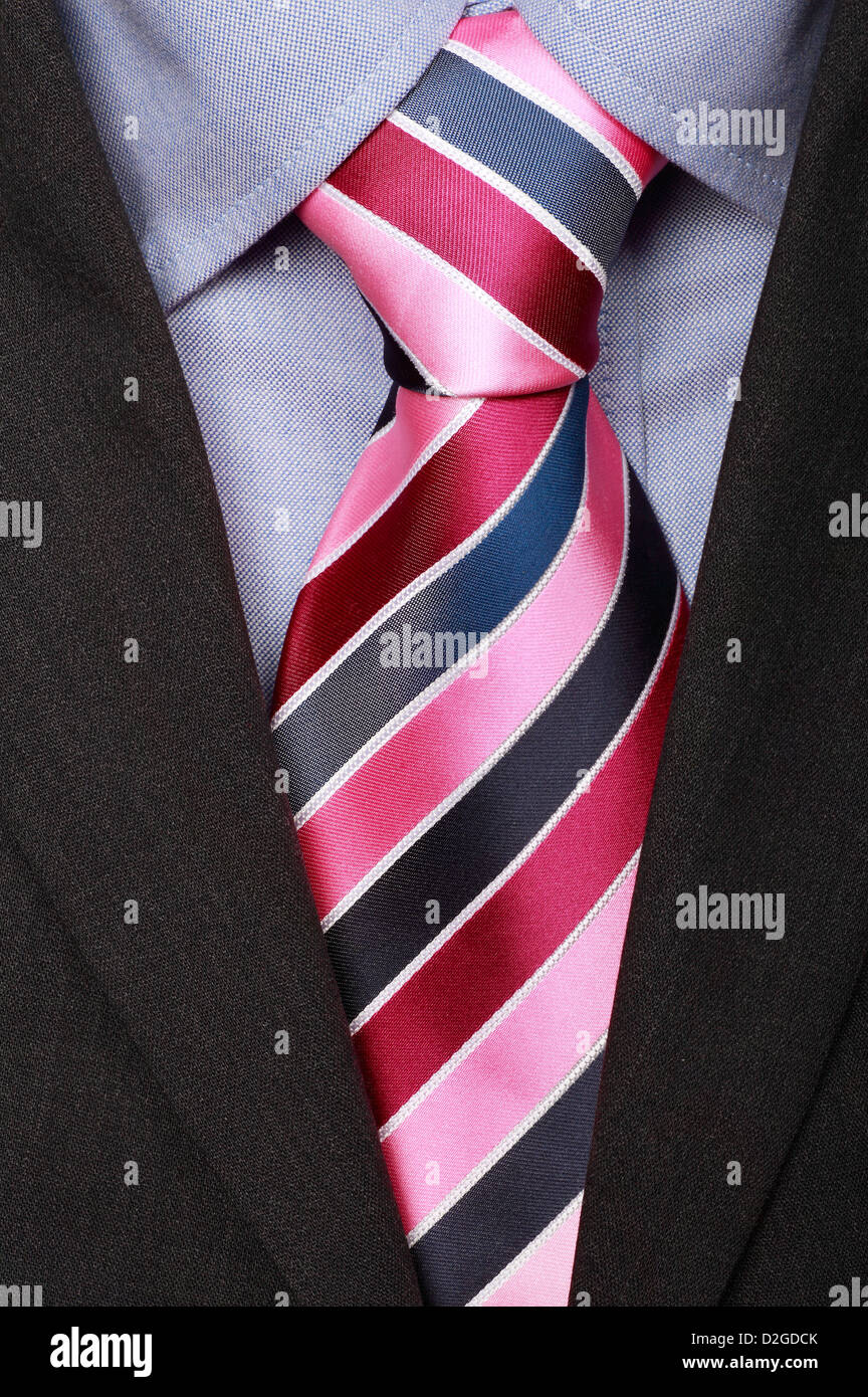 Close up of Shirt Tie and Suit - Stock Image