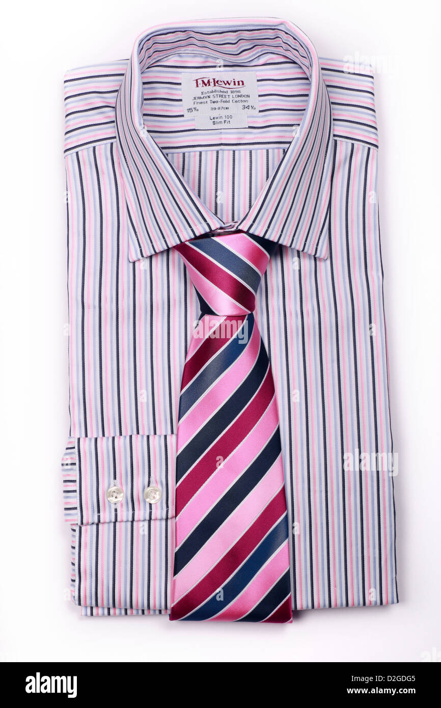 New shirt and tie - Stock Image