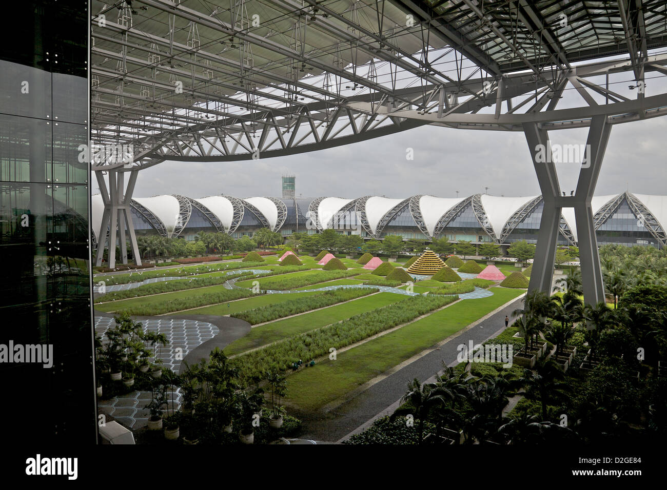 Suvarnabhumi, Bangkok's international airport, Thailand - Stock Image