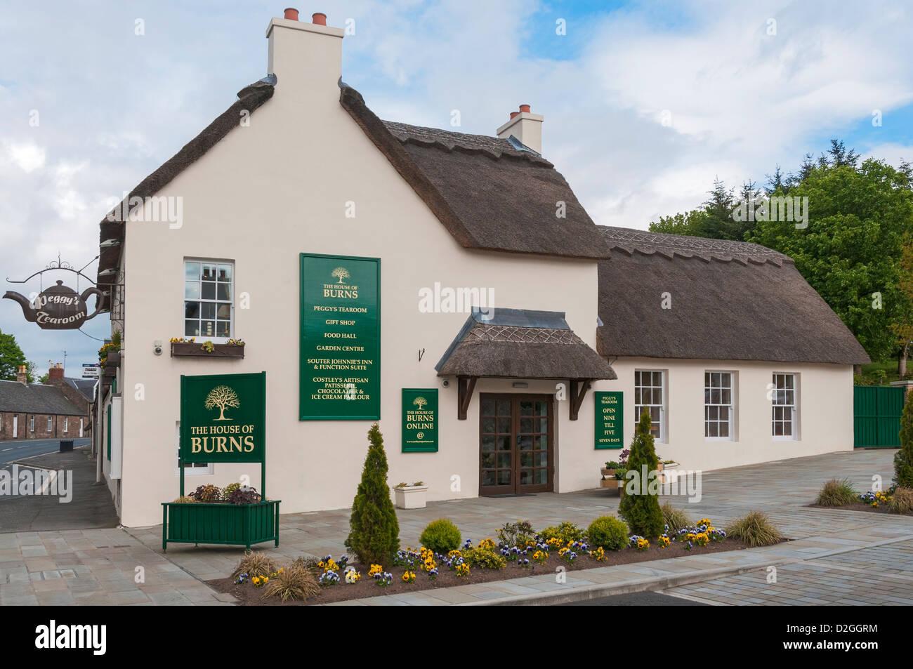 Scotland, Kirkoswald, The House of Burns, Peggy's Tearoom, restaurant, gift shop - Stock Image