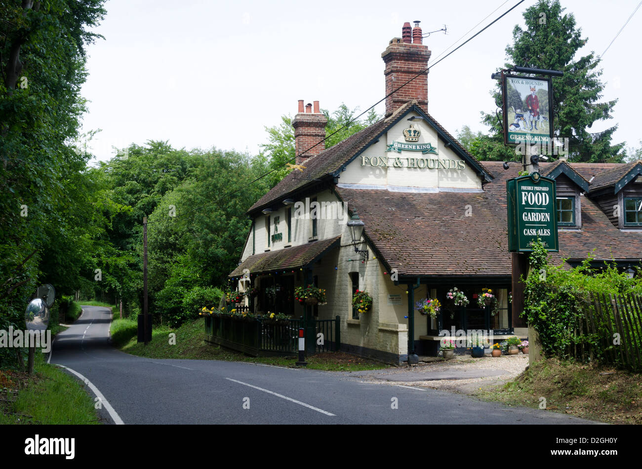 Fox And Hounds Pub Toys Hill Near Brasted Kent England Stock