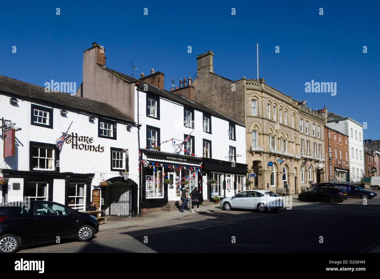 Hare and Hounds pub, Boroughgate, Appleby-in-Westmorland, Cumbria, England, Britain - Stock Image