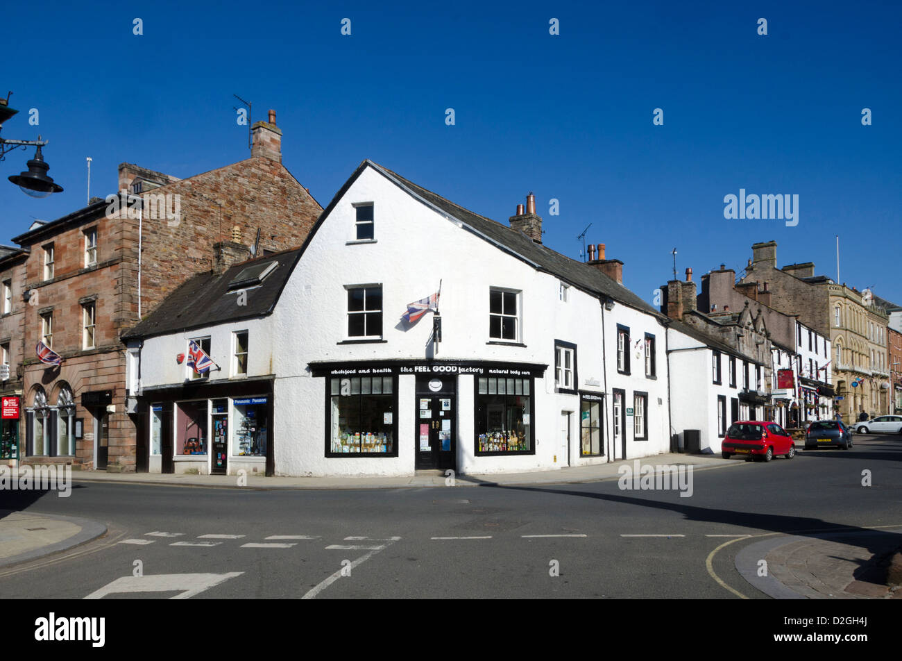 Boroughgate, Appleby-in-Westmorland, Cumbria, England, Britain - Stock Image