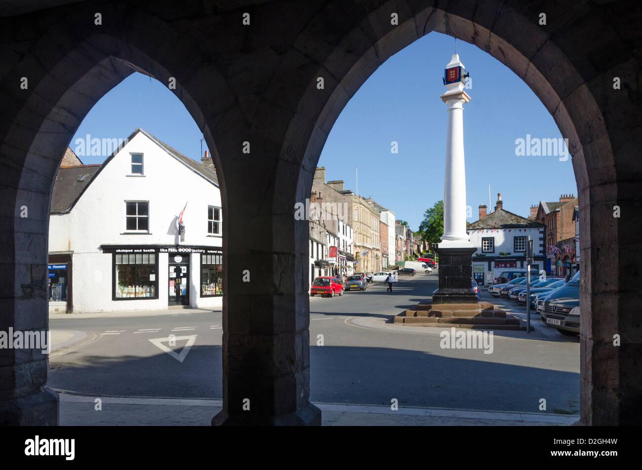 Market Cross, Boroughgate, Appleby-in-Westmorland, Cumbria, England, Britain - Stock Image