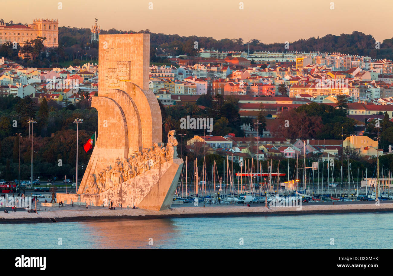 Statue of Discovery, Lisbon Portugal. - Stock Image
