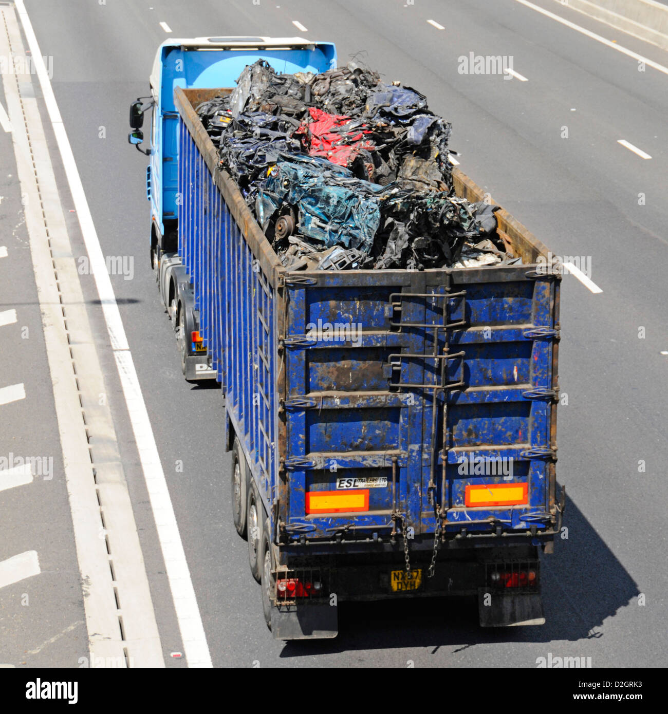 Truck load of scrap metal for recycling Stock Photo: 53230215 - Alamy