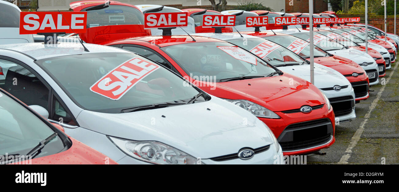 Used Ford cars on sale dealership forecourt outside showroom ...