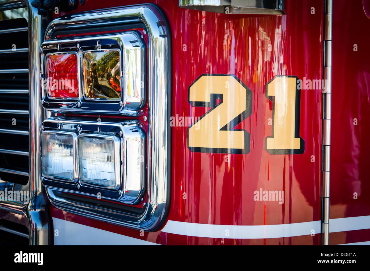 Engine No 21 at Ellicott City Volunteer Fire Department - Stock Image