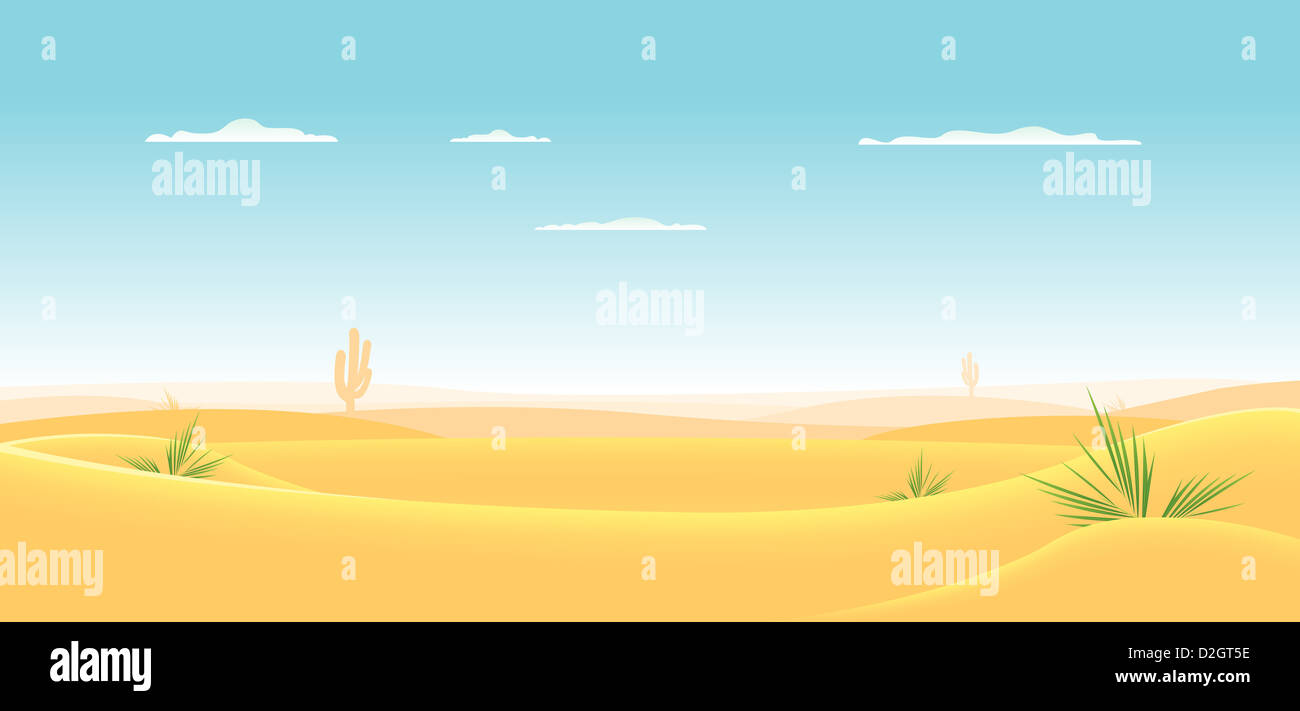Cartoon Desert High Resolution Stock Photography And Images Alamy