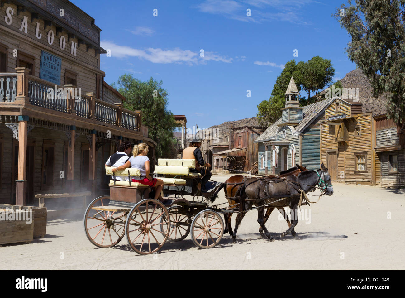 Texas Hollywood film set, used as location for the Western film Once Upon a time in the West - Stock Image
