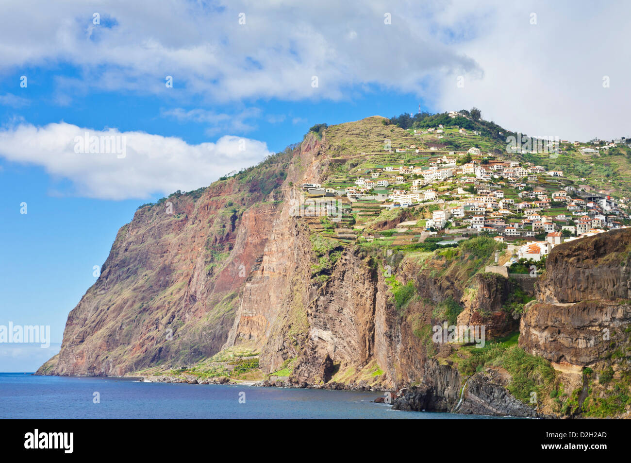 Cabo Girao, (580m) is one of the world's highest sea cliffs on the south coast of the island of Madeira, Portugal, - Stock Image